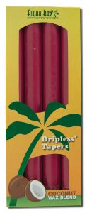 ''Aloha Bay Palm Wax Candles - Palm Taper 9 Unscented Burgundy''''''