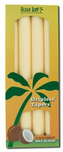 ''Aloha Bay Palm Wax Candles - Palm Taper 9 Unscented Cream''''''