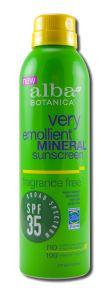 Alba Botanica - Sun Care Products Fragrance Free Mineral Spray SUNSCREEN 6 oz