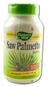 Natures Way - Herbal Singles SAW Palmetto Berries 180 caps