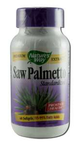 Natures Way - Standardized Herbal Extracts SAW Palmetto 60 softgels