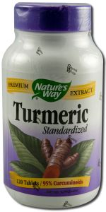 Natures Way - Standardized Herbal Extracts TURMERIC \/ Tumeric 120 tabs
