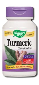 Natures Way - Standardized Herbal Extracts TURMERIC Standardized 750 mg 60 vcap