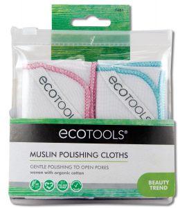 Paris Presents - Eco TOOLS Muslin Polishing Cloths 2 pk