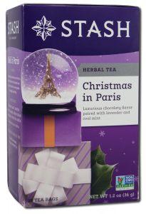 Stash Tea Company - Herbal Teas CHRISTMAS in Paris 18 ct
