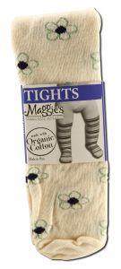 Maggies Functional Organics - Baby CLOTHING & Socks Tights Flower Pattern 6-12 months