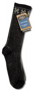 Maggies Functional Organics - Wool Crew Singles SWEATER Sock Black 10-13