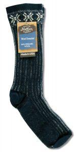 Maggies Functional Organics - Wool Crew Singles SWEATER Sock Navy 10-13