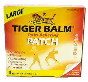 ''Tiger Balm - PATCHES Large (8x4'''') 4 PATCHES''''''