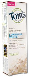 Toms Of Maine - Fluoride TOOTHPASTEs Spearmint Luminous White 4.7 oz