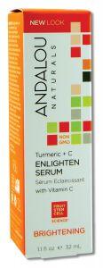 Andalou Naturals - Brightening with Vitamin C TURMERIC + C Enlighten Serum 1.1 oz