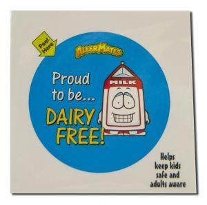 Allermates - STICKERS & Labels Dairy Free STICKER 24 ct