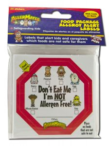 ''Allermates - STICKERS & Labels I have Food Allergies'''' Checkbox 24 ct''''''