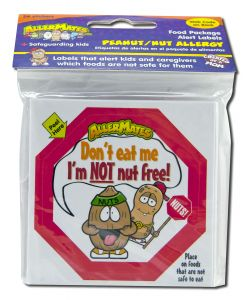 Allermates - STICKERS & Labels Im Not Nut Free Label 24 ct