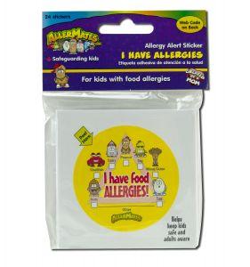 Allermates - STICKERS & Labels Allergen Free Label Checkbox 24 ct