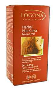 Logona Natural Body Care - Herbal Hair Color Powders Henna Red