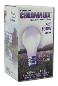 Lumiram Electric Corporation - Chromalux Pure Natural LIGHT Standard BULB 100w Clear