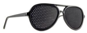Natural Eyes - Pin Hole Glasses Black Full FRAME Kit